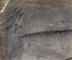 Kaloogoomulla [Kalugumalai], near Tinnevelly. Another portion of the carvings and writings on the Rock